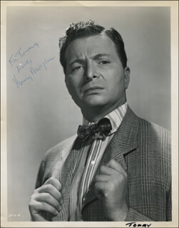 HENRY MORGAN - AUTOGRAPHED INSCRIBED PHOTOGRAPH