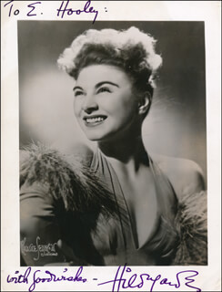 HILDEGARDE - AUTOGRAPHED INSCRIBED PHOTOGRAPH