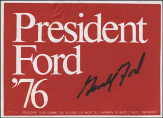 Autographs: PRESIDENT GERALD R. FORD - EPHEMERA SIGNED