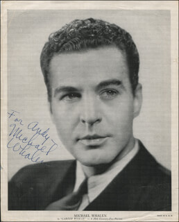 MICHAEL WHALEN - AUTOGRAPHED INSCRIBED PHOTOGRAPH