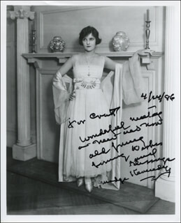 MADGE KENNEDY - AUTOGRAPHED INSCRIBED PHOTOGRAPH 04/24/1986