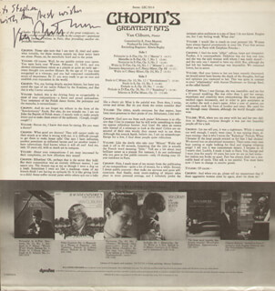 VAN CLIBURN - INSCRIBED RECORD ALBUM COVER SIGNED
