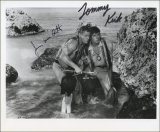 SWISS FAMILY ROBINSON MOVIE CAST - AUTOGRAPHED SIGNED PHOTOGRAPH CO-SIGNED BY: TOMMY KIRK, JAMES MacARTHUR
