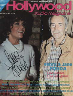 HENRY FONDA - MAGAZINE COVER SIGNED CO-SIGNED BY: JANE FONDA