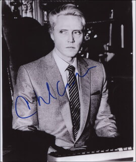 CHRISTOPHER WALKEN - AUTOGRAPHED SIGNED PHOTOGRAPH