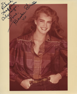BROOKE SHIELDS - AUTOGRAPHED INSCRIBED PHOTOGRAPH