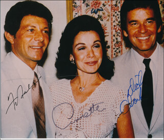 DICK CLARK - AUTOGRAPHED SIGNED PHOTOGRAPH CO-SIGNED BY: ANNETTE FUNICELLO, FRANKIE AVALON