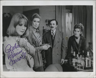 Autographs: AND MISS REARDON DRINKS A LITTLE PLAY CAST - PHOTOGRAPH SIGNED CO-SIGNED BY: NANCY MARCHAND, JULIE HARRIS