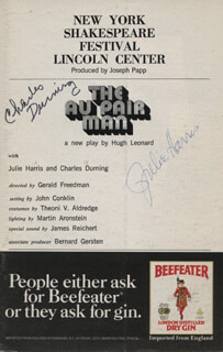 THE AU PAIR MAN PLAY CAST - SHOW BILL SIGNED CO-SIGNED BY: CHARLES DURNING, JULIE HARRIS