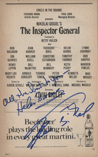 THE INSPECTOR GENERAL PLAY CAST - SHOW BILL SIGNED CO-SIGNED BY: THEODORE BIKEL, HELEN BURNS