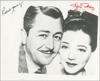 THE SEARCHING WIND MOVIE CAST - AUTOGRAPHED SIGNED PHOTOGRAPH CO-SIGNED BY: SYLVIA SIDNEY, ROBERT YOUNG