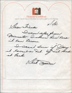 DICK SIMMONS - AUTOGRAPH LETTER SIGNED 02/05/1981