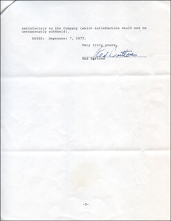 RED BUTTONS - CONTRACT SIGNED 09/07/1977
