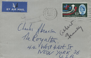 ALBERT FINNEY - ENVELOPE SIGNED 03/06/1963