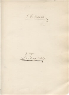 JOHN Y. MASON - AUTOGRAPH CO-SIGNED BY: ISAAC TOUCEY