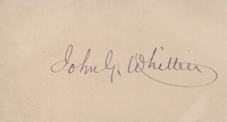 JOHN GREENLEAF WHITTIER - AUTOGRAPH