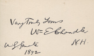 Autographs: WILLIAM E. CHANDLER - AUTOGRAPH SENTIMENT SIGNED 1892