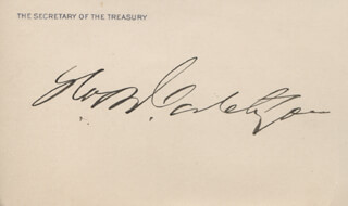 Autographs: GEORGE B. CORTELYOU - CALLING CARD SIGNED