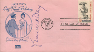 J. EDWARD DAY - FIRST DAY COVER SIGNED