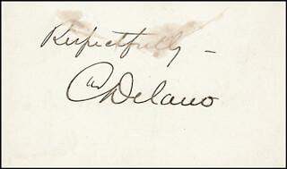 CHARLES DELANO - AUTOGRAPH SENTIMENT SIGNED