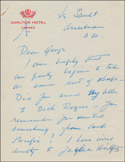 ELSA MAXWELL - AUTOGRAPH LETTER SIGNED