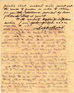 Autographs: PRESIDENT JEFFERSON DAVIS (CONFEDERATE STATES OF AMERICA) - AUTOGRAPH LETTER SIGNED 05/27/1848