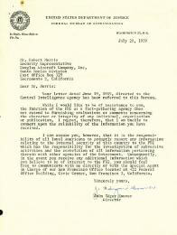 J. EDGAR HOOVER - TYPED LETTER SIGNED 07/28/1959  - HFSID 32082