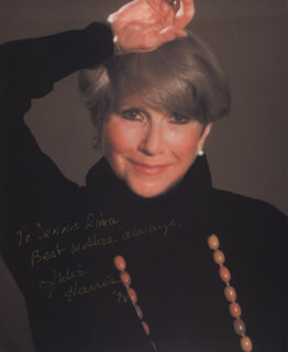 JULIE HARRIS - AUTOGRAPHED INSCRIBED PHOTOGRAPH 1998