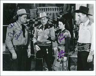 SWING, COWBOY, SWING MOVIE CAST - AUTOGRAPHED INSCRIBED PHOTOGRAPH CO-SIGNED BY: CAL SHRUM, ALTA LEE