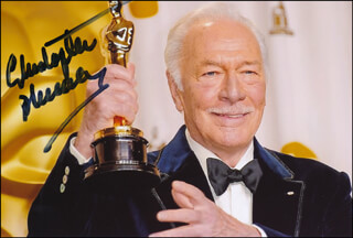 CHRISTOPHER PLUMMER - AUTOGRAPHED SIGNED PHOTOGRAPH