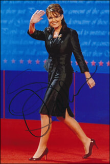 GOVERNOR SARAH PALIN - AUTOGRAPHED SIGNED PHOTOGRAPH
