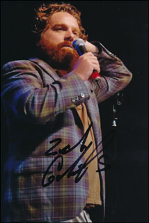 ZACH GALIFIANAKIS - AUTOGRAPHED SIGNED PHOTOGRAPH