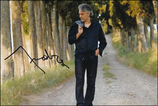 ANDREA BOCELLI - AUTOGRAPHED SIGNED PHOTOGRAPH