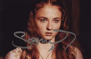 SOPHIE TURNER - AUTOGRAPHED SIGNED PHOTOGRAPH