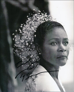 CICELY THOMAS - AUTOGRAPHED SIGNED PHOTOGRAPH