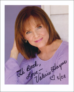 VALERIE HARPER - AUTOGRAPHED INSCRIBED PHOTOGRAPH 08/2008