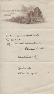 JOHN DRINKWATER - AUTOGRAPH QUOTATION SIGNED 12/1925