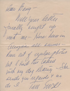 TOM EWELL - AUTOGRAPH LETTER SIGNED