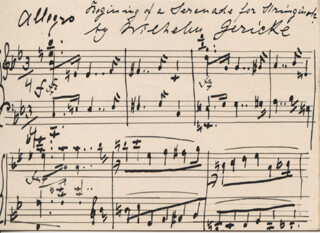 WILHELM GERICKE - AUTOGRAPH MUSICAL QUOTATION SIGNED 02/29/1908
