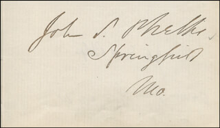 GOVERNOR JOHN S. PHELPS - AUTOGRAPH