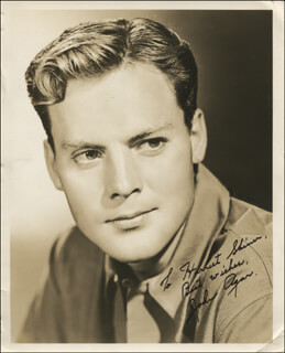 Autographs: JOHN AGAR - INSCRIBED PHOTOGRAPH SIGNED