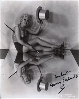 MARY CARLISLE - AUTOGRAPHED SIGNED PHOTOGRAPH