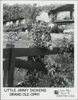 JIMMY LITTLE JIMMY DICKENS - PRINTED PHOTOGRAPH SIGNED IN INK