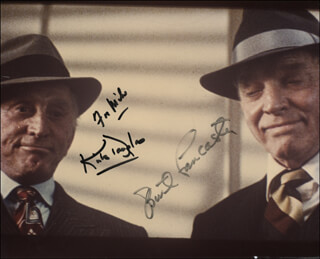 TOUGH GUYS MOVIE CAST - AUTOGRAPHED INSCRIBED PHOTOGRAPH CO-SIGNED BY: BURT LANCASTER, KIRK DOUGLAS
