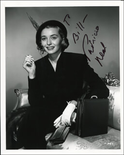 PATRICIA NEAL - AUTOGRAPHED INSCRIBED PHOTOGRAPH
