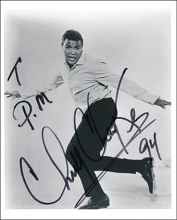 CHUBBY THE TWIST KING CHECKER - AUTOGRAPHED SIGNED PHOTOGRAPH 1994