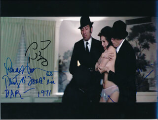 DIAMONDS ARE FOREVER MOVIE CAST - AUTOGRAPHED SIGNED PHOTOGRAPH 1971 CO-SIGNED BY: MARC LAWRENCE, LANA WOOD, SID HAIG