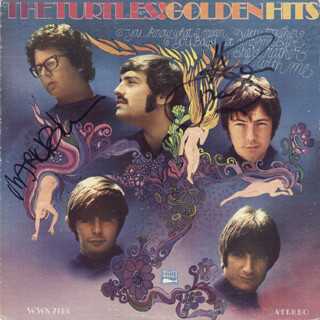 THE TURTLES - RECORD ALBUM COVER SIGNED CO-SIGNED BY: HOWARD KAYLAN, MARK VOLMAN