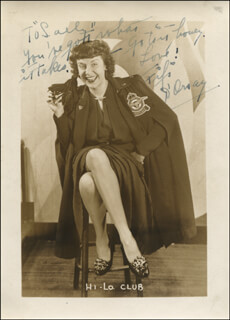 FIFI D'ORSAY - AUTOGRAPHED INSCRIBED PHOTOGRAPH