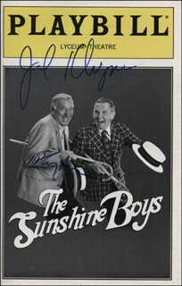 THE SUNSHINE BOYS PLAY CAST - SHOW BILL COVER SIGNED CO-SIGNED BY: JACK KLUGMAN, TONY RANDALL